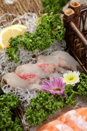 Red sea bream sashimi