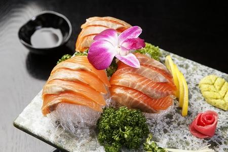 Salmon sashimi Stok Fotoğraf