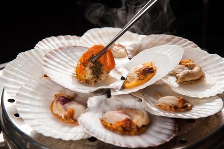 Steamed shellfish