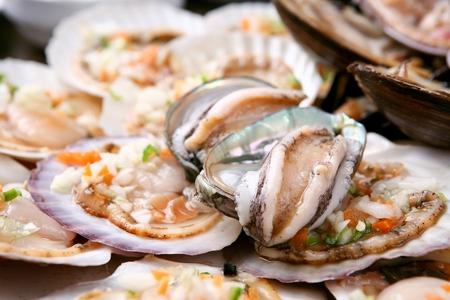 Grilled shellfish Stock Photo