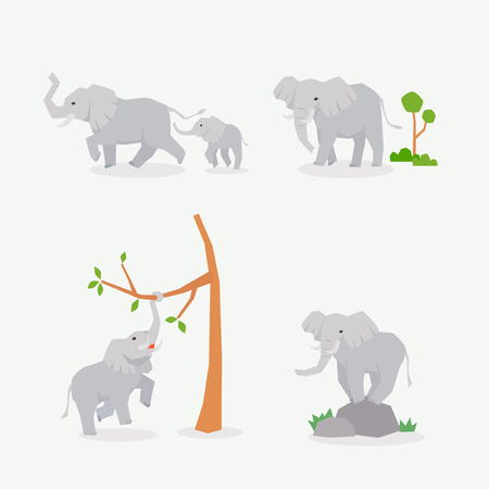 Tiersymbole Sammlung Vektor-Illustration 026