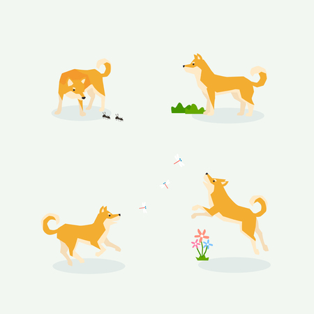 Animal icons collection vector illustration 013