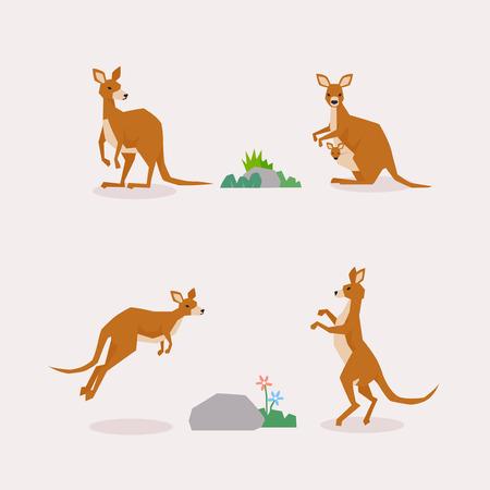 Illustration vectorielle de collection d'icônes d'animaux 064