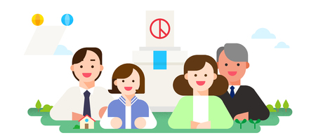 Vector - Korea's National Memorial Days. the anniversary of Korean memorial holidays such as Children's Day, Independence Day, Buddha's birthday and so on. 014 Illustration