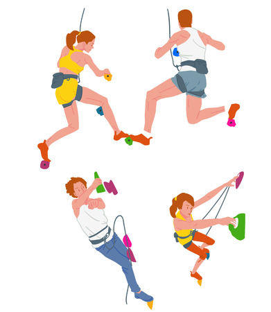 Leisure sports collection, enjoying healthy lifestyle concept flat vector illustration. on a white background. 009 Ilustrace