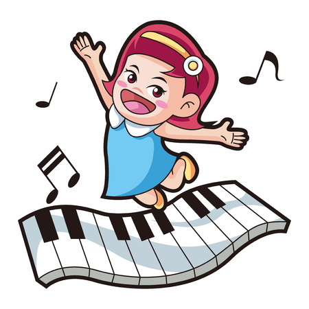 Vector - music and physical education vector cartoon Illustration 011