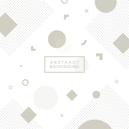White abstract geometrical background with gray shapes Illustration