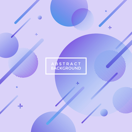 Universe, shooting star-like purple abstract geometrical background with gradient circles and lines Illustration