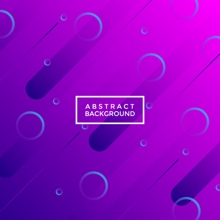Universe, shooting star-like neon purple abstract geometrical background with gradient circles and lines