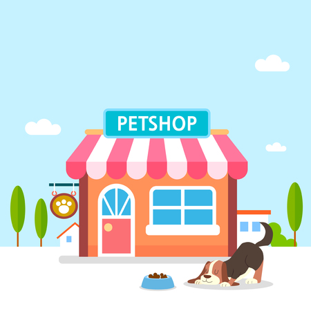 Online shopping of Pet accessories, E-shopping Concept