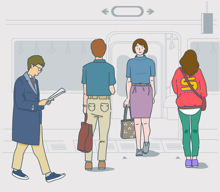 public places are for everyone, please be gentle. manners in public places illustration