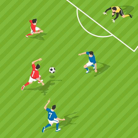 Aerial view of sport games in flat design style illustration Ilustrace