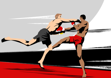 Various sports players with dynamic colorful scratched Illustration