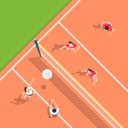 Aerial view of sport games in flat design style illustration Illusztráció