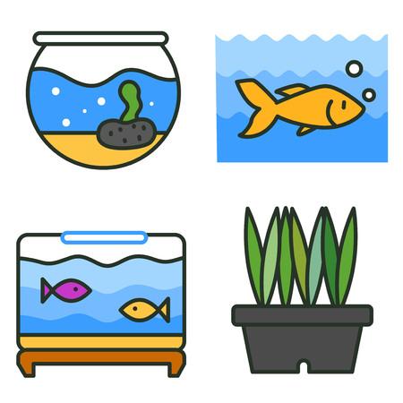 Flache tierärztliche Symbole gesetzt. Verwenden Sie für Web- und mobile Benutzeroberflächen, eine Reihe grundlegender veterinärmedizinischer Elemente, isolierte Vektorillustration