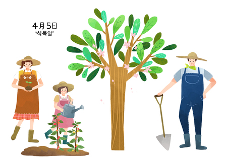 Vector illustration for Korean national holiday 008