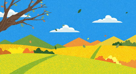 Vector - Natural scenery, spring, summer, fall and winter. Four seasons vector illustration 018 Reklamní fotografie