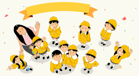Vector - Something beginning or end in life illustration 002 스톡 콘텐츠