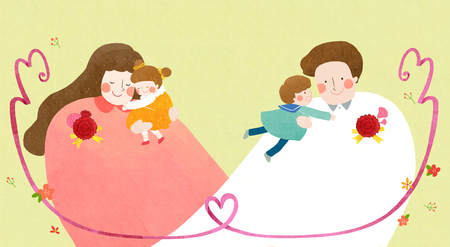 illustration for thanked the teachers and the parents for their hard work