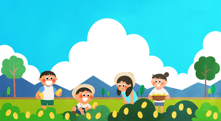 Various activities for children during summer vacation
