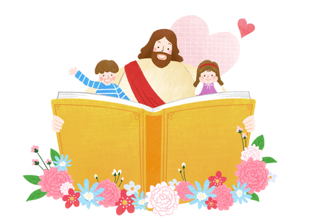 The bible school of Jesus with children