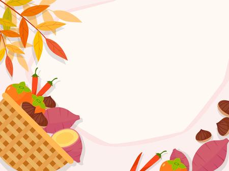 Korean ornament for blank template. banner, greeting card design vector illustration