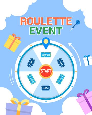 Shopping roulette event template design vector illustration 015