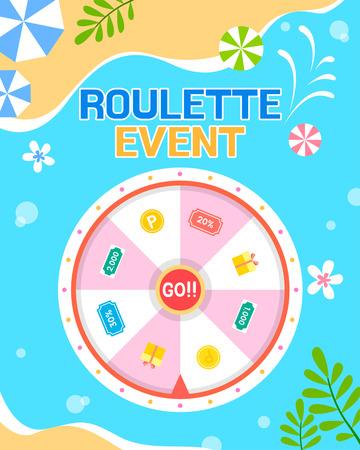 Shopping roulette event template design vector illustration 003