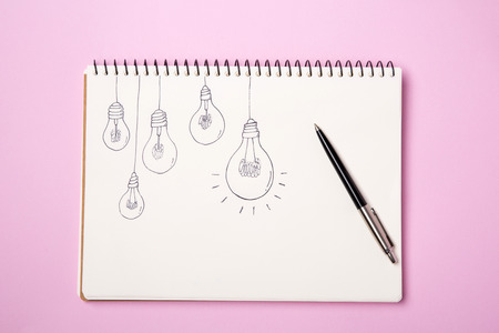 Light bulb glowing as Business idea concept with concept creative thinking and innovative solutions. 124