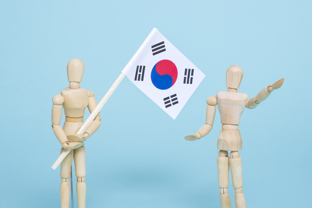 An emblem of Korea and Koreans concept, with national flag 'Taegukgi', national flower 'Rose of Sharon' and so on. 033 免版税图像