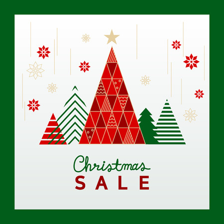 Christmas holiday sale design vector illustration. sale banner template design.