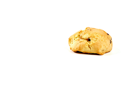Scone, bread on white background Imagens