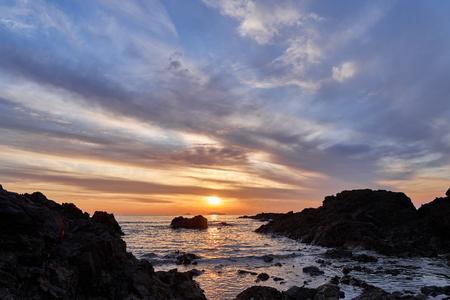 Beautiful Sunset beach landscape in Taeanhaean, Korea