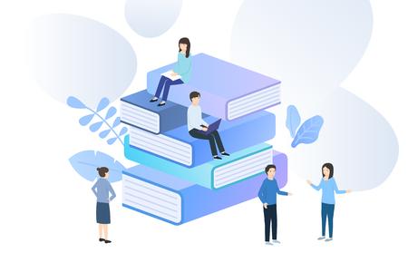 Vector illustration concept for web banner, business presentation. 스톡 콘텐츠 - 116886552