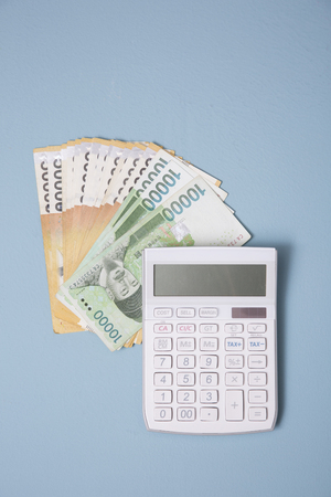 Household budget concept, home budget planning expenses and target money saving props photo 036