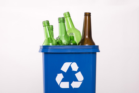 Recycling concept, Garbage for recycling with recycling symbol. Environmental protection concept photo.
