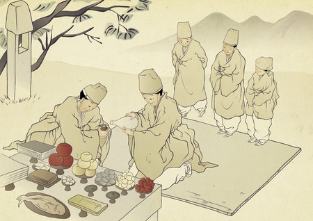 Korean traditional painting collection, genre painting portrays the daily life of Korean people.