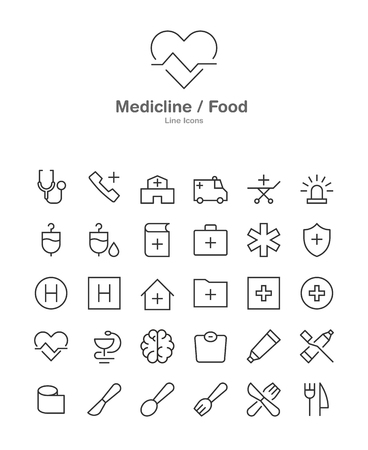 Modern web and mobile application pictograms collection. Line art intercece icons set. Modern minimalistic flat design.