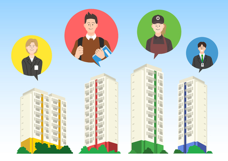 Wish to buy my house, Home ownership illustration. 일러스트