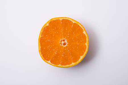 Collections of fresh Tangerines. tangerine slices, juice with leaves. Fruit composition.