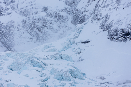 Winter and Snow in Jungrau, Switzerland