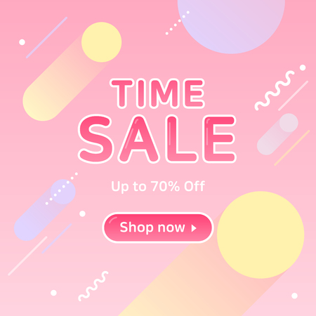 Sale template colorful layout for banners, posters, discount 6