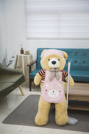 Teddy bears daily routine Stock Photo