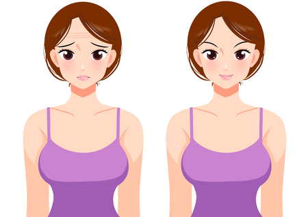 Plastic surgery ,  health procedure vector illustration 版權商用圖片