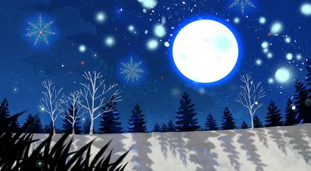 Beautiful  landscape painting illustration 版權商用圖片