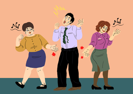 Sexual harassment in the workplace Vector illustration