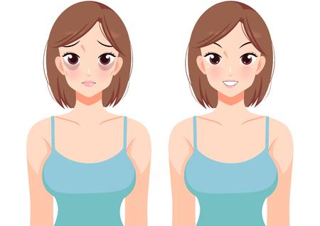 Plastic surgery concept, beauty health procedure vector illustration Archivio Fotografico - 122930944
