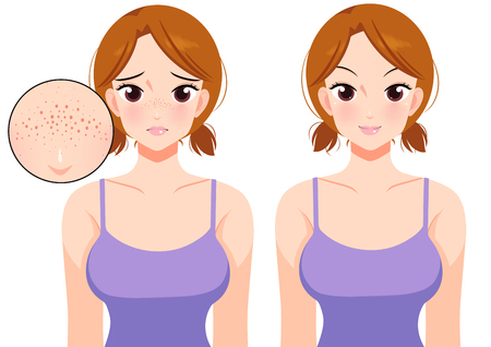 Plastic surgery concept, beauty health procedure vector illustration