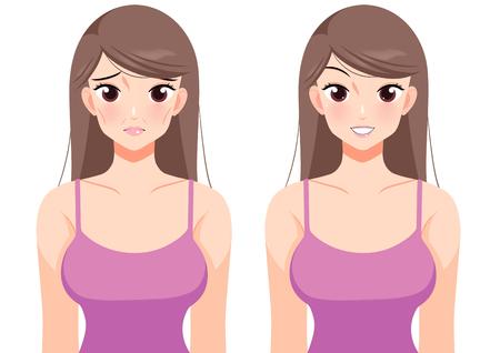 Plastic surgery concept, beauty health procedure vector illustration Archivio Fotografico - 122942620