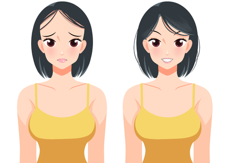 Plastic surgery concept, beauty health procedure vector illustration